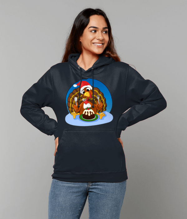 Christmas Turkey College Hoodie fm 1