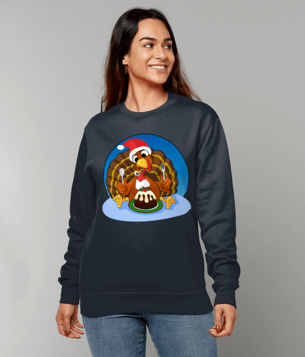 Christmas Turkey Sweatshirt fm 1