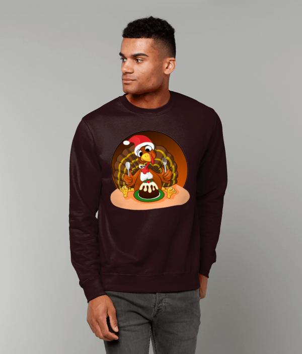Christmas Turkey Sweatshirt mm