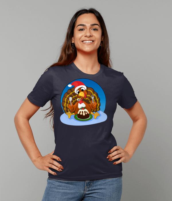 Christmas Turkey T Shirt fm 1