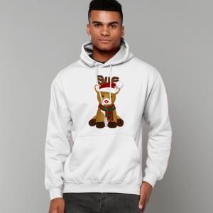 Cute Reindeer College Hoodie mm