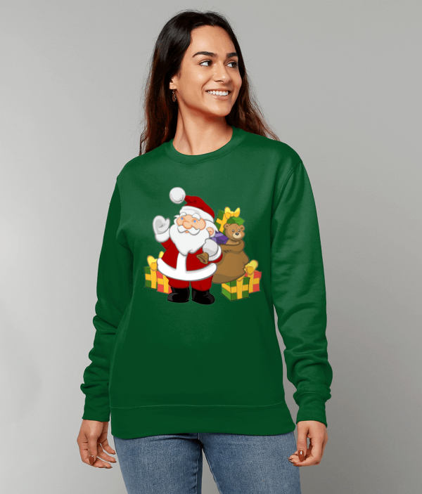 Santa with Gifts Sweatshirt fm