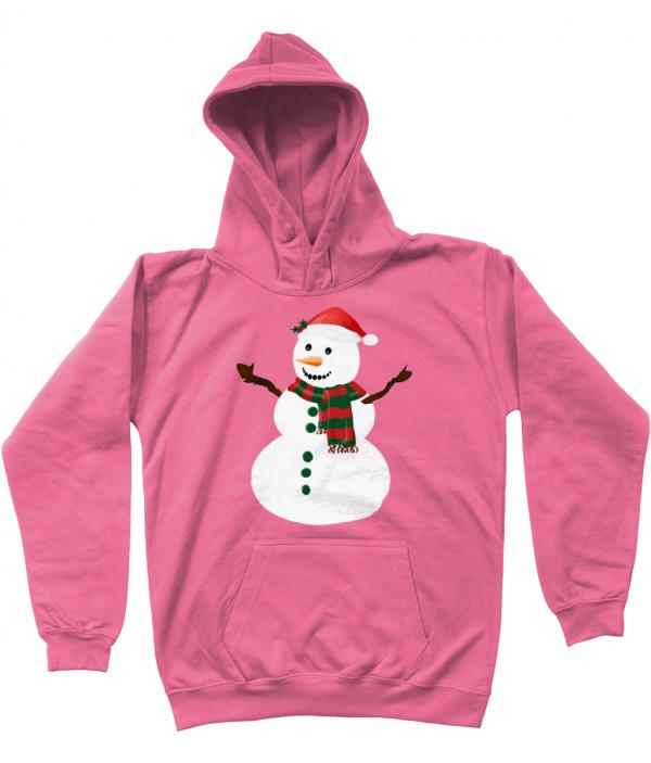 Snowman Kids Hoodie Candyfloss Pink
