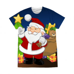 Santa by the Tree T-Shirt