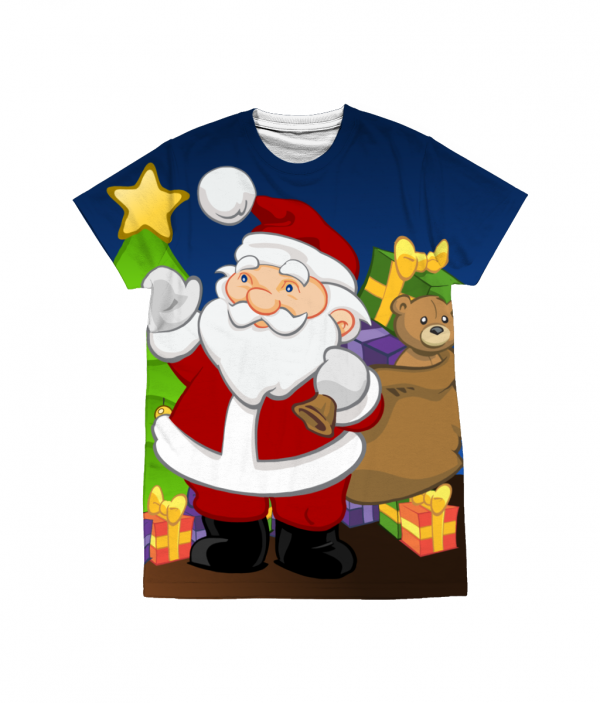 Santa by the Tree T-Shirt