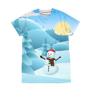 Snowman / Snow Scene T-Shirt