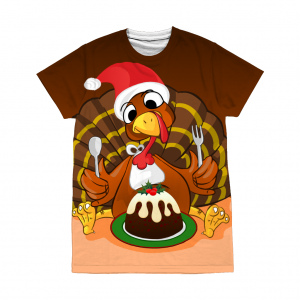 Christmas Turkey T-Shirt - All Over Print