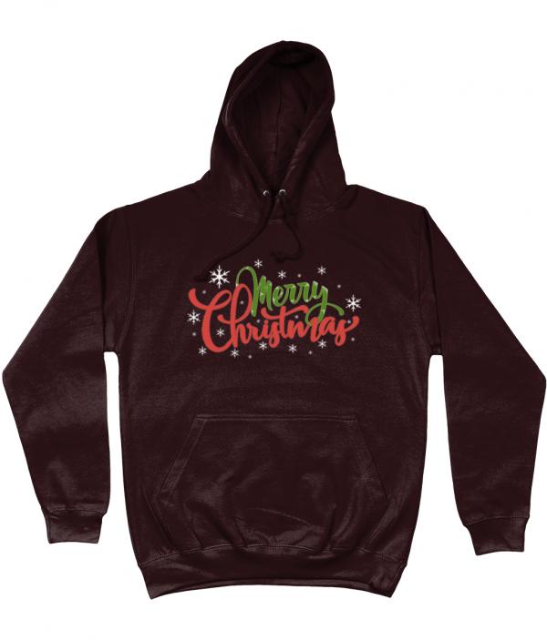 Merry Christmas Hoodie Hot Chocolate